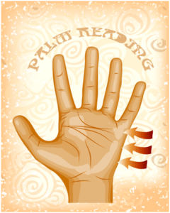 palm reading session