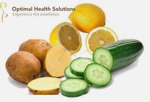cucumber and potato slices