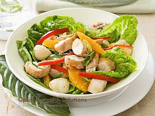 Lychee chicken salad