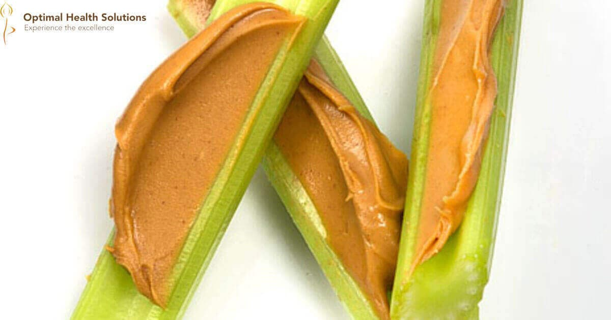 Peanut butter with celery