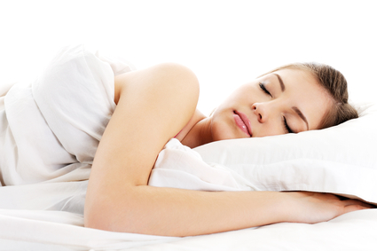 beautiful resting woman cover white blanket